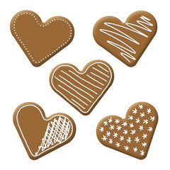 christmas heart gingerbread
