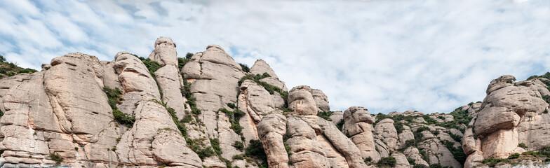 Panoramic Montserrat Mountains