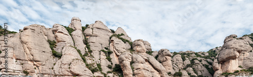 Panoramic Montserrat Mountains