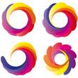 Bunte Farbkreise - Logo