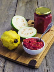Guava Jam and guava fruits