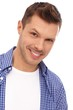 Closeup portrait of happy man