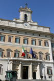 Palazzo Montecitorio headquarters of the Italian Parliament in R