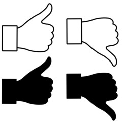 thumb up and down gesture