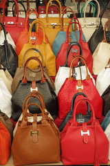colorful elegant leather hand bags collection on market