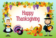 Happy thanksgiving, vector background.