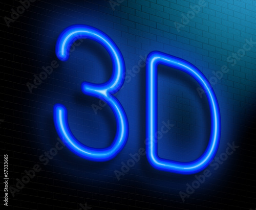 3D concept.