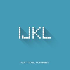 I J K L - Flat Pixel Alphabet