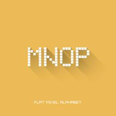 M N O P - Flat Pixel Alphabet