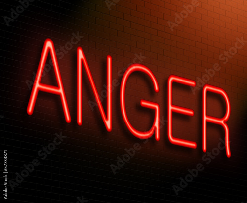 Anger concept.