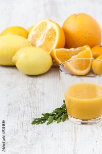 Orange juice arrangement