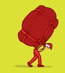 Carrying a heavy burden