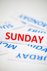Sunday word texture background