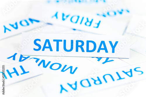 Saturday word texture background