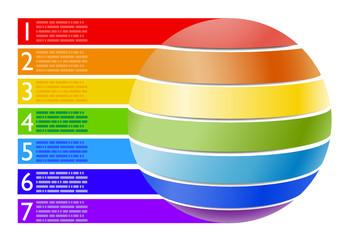 Infografica esempi piramide alimentare torta tondo