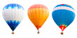 Leinwanddruck Bild - Colorful hot air balloons