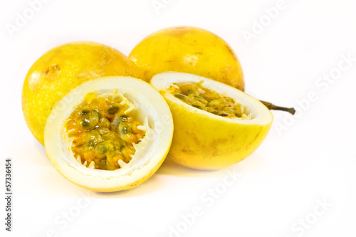 passion fruit on white