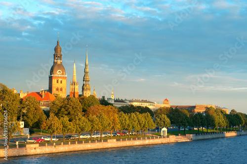 Old town Riga and the Daugava river