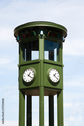 Traditional traffic light tower