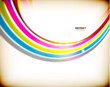 Rainbow swirl colorful abstract background