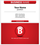 Red business card with type-icon.