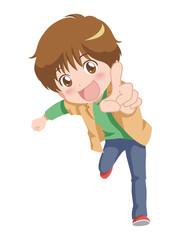 男の子/指差し