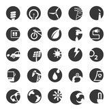 energy buttons, icons