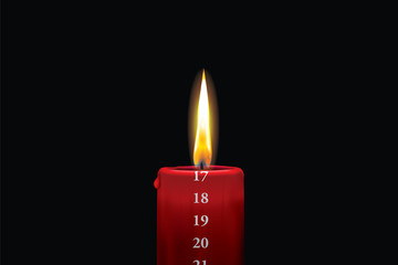 Red advent candle - december 17th