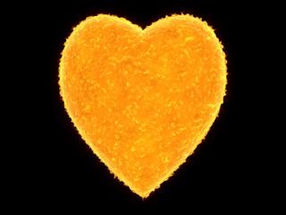 heart shaped sun (heart of univers)