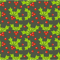 Holly berry pattern