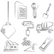 sketched construction icons - 57338404