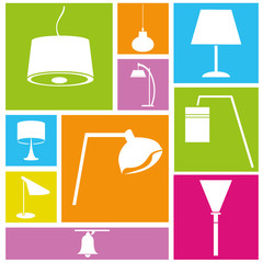lamp icons, interior design
