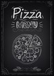Pizza. Menu on the chalkboard - 57338808