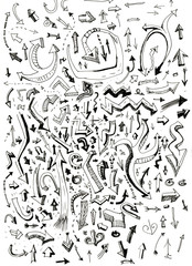 Arrows hand drawn doodle