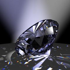 Diamant im Brillant-Schliff mit Feuer