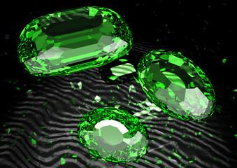 Smaragde auf Samt