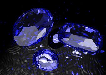 Saphire - blaue Schmucksteine