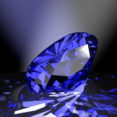 Saphir - blauer Edelstein