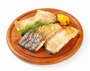 Oven-roasted carp fillets