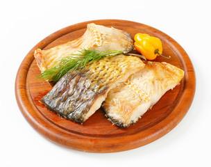 Oven-roasted carp fillets