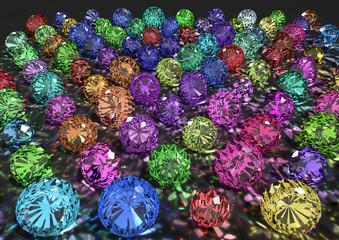 Bunte Diamanten - Edelstein Regenbogen