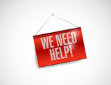 we need help banner illustration design