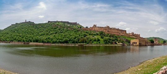 Famous Amber fort near to Jaipur in India