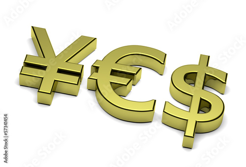 3D Currency Sign Yes Text