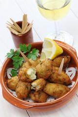 salt cod (bacalhau,bacalao) fritters, croquettes