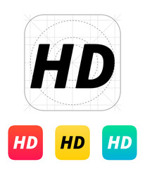 HD quality video icon.