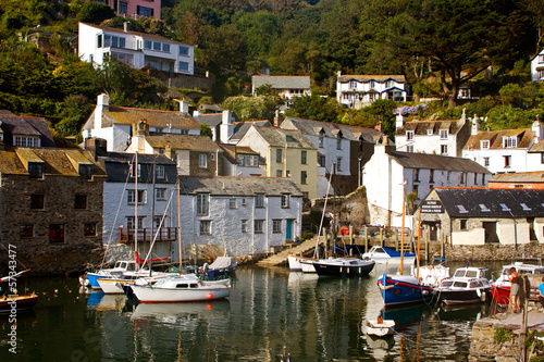 Harbor of Polperro  in Cornwall