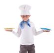 kleiner Koch beim servieren