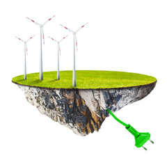 Wind energy. Renewable resources concept.
