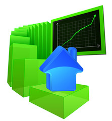 positive results of real estate market vector